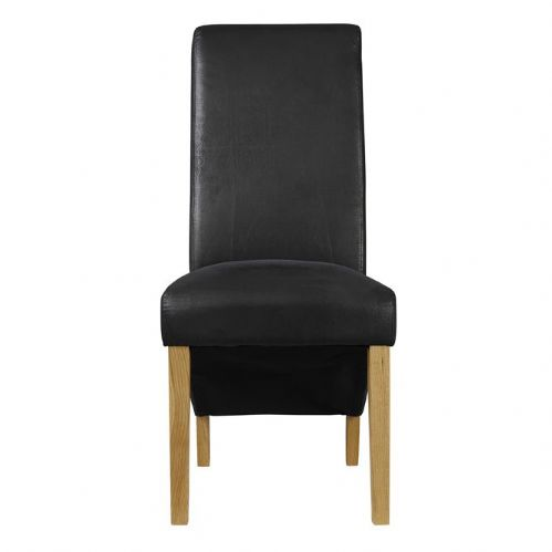 AXE CH154 Black Chairs (Pair) By Denelli